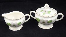 Vintage Pope Gosser China Dogwood Shell Edges sugar and creamer