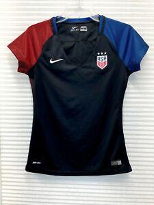 Nike Dri-Fit Women's USA Away Soccer Jersey 743671-010 Size Small - EUC