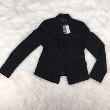 NWT $159.99 Ann Taylor Women's Size 4 Blazer Coat Jacket Black One Single Button