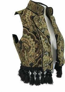 SHRINE VINTAGE GOTHIC COSTUME GYPSY CARNIVAL STEAMPUNK MATADOR TOREADOR VEST