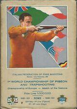 Programma dei Campionati del Mondo di Tiro al Piccione 1930 - Copertina Inglese