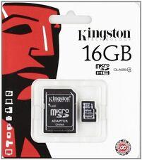 2PZ MICRO SD 16GB KINGSTON SDC4/16GB SCHEDA MEMORIA CARD SDHC TRANSFLASH