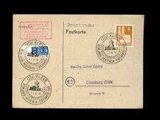 KLEVE SONSTERSTEMPEL ESPERANTO TAG 1949 AUF KARTE 4 PF. BAUTEN + NOTOPFER
