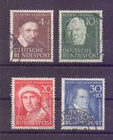 Bund 1951 - Wohlfahrt - MiNr. 143/146 rund gestempelt - Michel 140,00 € (426)