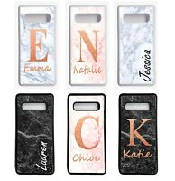 Name and Initials PERSONALISED PHONE CASE MARBLE COVER SAMSUNG GALAXY S10 9 8 7
