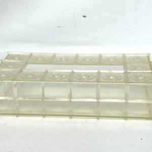 Vintage Clear Acrylic Kleenex Plastic Tissue Box Cover Embossed Starbursts MCM