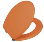 Wenko 152218100 WC-Sitz Prima Orange - Spülkasten geeignet, rostfreie Edelstahl