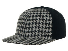 Puma Houndstooth Snapback Cap Hat Mens Womens Basketball Casual Black