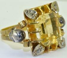 Victorian Memento Mori Skulls 18k gold,Diamonds & Citrine ladies ring c1890's