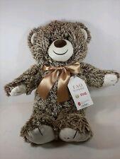 "NWT FAO Schwarz Teddy Bear 2018 Bears That Care 18"" Chocolate Brown Plush Toy"