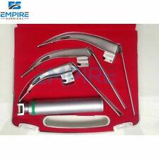 Mccoy Flexi Tip Fiberoptic Led Laryngoscope Set Blade 2 3 4 Medium Handle