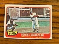 1965 Topps #135 World Series Game 4 Boyer's Grand -Slam