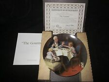 "Norman Rockwell Collector'S Plate ' The Gourmet"" 1985"