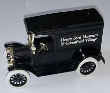 ERTL Diecast Ford 1917 Model T Van ~ Henry Ford Museum & Green Village Coin Bank