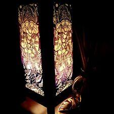 Ganesha India Hindu Purple Handmade Asian Oriental Wood Light Night Lamp Shade T