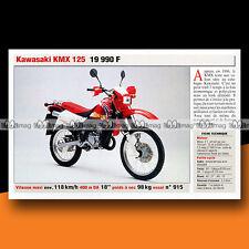 ★ KAWASAKI KMX 125 ★ 1999 Trail Bike / Présentation Fiche Moto #c977