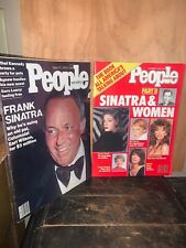 People Magazine 1976,1986 Issues,Frank Sinatra And His Women.