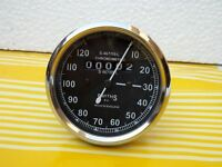 NEW REPLICA SMITHS SPEEDOMETER 120 Mph Black BSA ENFIELD - fast shipping