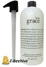 Philosophy Baby Grace Shampoo Bath Shower Gel Jumbo 32 oz. with Pump SEALED