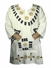 Dashiki African Mens Women Mud Cloth Ethnic Top Organic Cotton Vintage One Size
