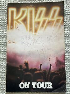 KISS 1976 DESTROYER Concert Program Book Signed Invitation Parking Pass Nugent