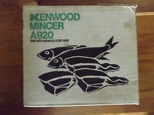 Boxed Vintage Kenwood Chef A920 Mincer Attachment to fitA901 FREE UK POST
