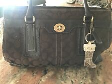 Used Coach Signature Tote Shoulder Purse Brown see pics for some wear