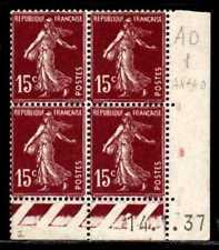 Coin daté Semeuse n° 189b du 14/1/1937 **