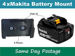 4 X Makita Battery Holder Mount - Wall Bracket Power Tool 18V