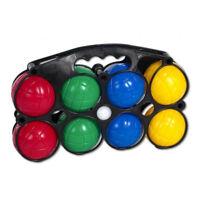 Boccia Spiel Set mit 8 Kugeln Outdoor Bocciatasche Boule Wurfspiel Kunststoff
