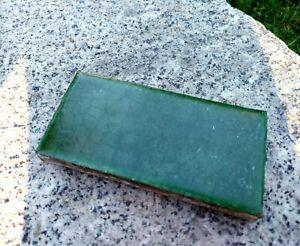 Vintage GRUEBY Pottery Tile watermelon green arts & crafts tile 3x6
