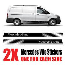 Mercedes Vito Graphics stripes Camper Van Decals Stickers mv5