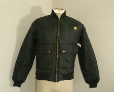Vintage CAT CATERPILLAR Diesel Nylon Insulated Zip Jacket USA MADE Small NWT NEW