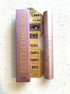 TOO FACED Better Than Sex Black Mascara FAST SHIPPING 8ml Full Size