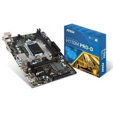 Msi 7996-019r H110m Pro-d Intel H110 LGA 1151 (Socket H4) micro ATX placa base