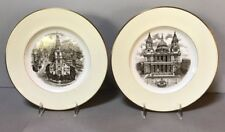 Wedgwood London Views Plates, St. Clement Danes and St. Pauls
