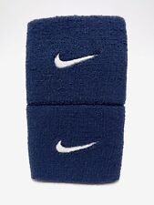 "Nike Swoosh Wristbands Obsidian/White 3"" Men's Women's"