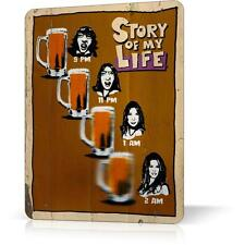 Metal Tin Sign Story Of My Life Beer Real Humor Funny Decor Home Wall Poster