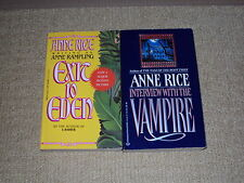 2 ANNE RICE BOOKS, EXIT TO EDEN AND INTERVIEW WITH THE VAMPIRE, EXCELLENT COND.