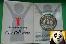 1991 OMAN 2 1/2 OMANI RIALS Save the Children Fund Silver Proof Coin + COA