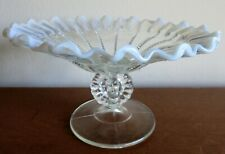 Northwood BEADED PANELS Opalescent Glass Compote circa 1899 *Excellent Condition