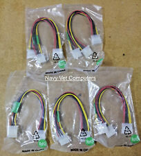 Lot of 5 Power Splitter Y Cables with 4 pin Molex connector-8""