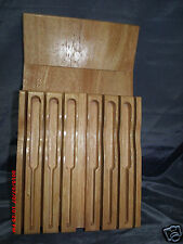 Kitchen Knife Block  in Drawer Bamboo Organizer Knives Storage Holder Excellent
