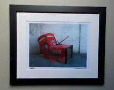 "Gravure ,  Banksy , "" Murdered Phone Booth "" Tirage 300 Exemplaires numérotés"