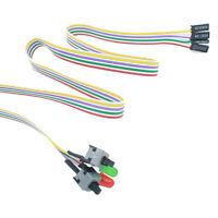 Eg _ Cn _50cm On / Arrêt / Reset 2 Interrupteur Lumière Del ATX PC Ordinateur