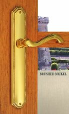 Privacy Door Lever Handles Chateau Privacy Right Hand Satin Brushed Nickel