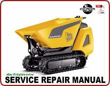 JCB TD7 TD10 Tracked Dumpster Service Repair Manual CD
