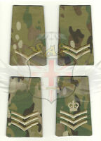 BRITISH ARMY TYPE MULTICAM RIPSTOP COTTON RANK SLIDE,LANCE,CORPORAL,SERGEANT,CSM