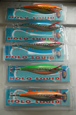 5x HOLO-TOTANARA OCTOPUS SQUID Action JIG SEPPIE g.3.0 equilibrismo