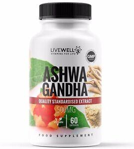 Ashwagandha Root Powder 1000mg Vegan Capsules | Sleep, Stress, Anxiety, Fatigue